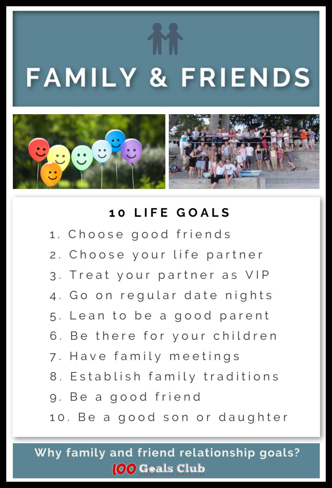 20 relationship goals for friends & family   200 Life Goals