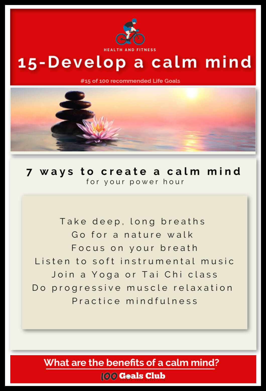 Calm mind benefits