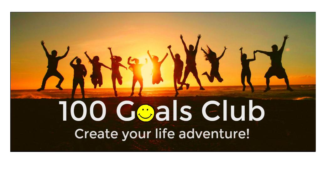 Life goal ideas