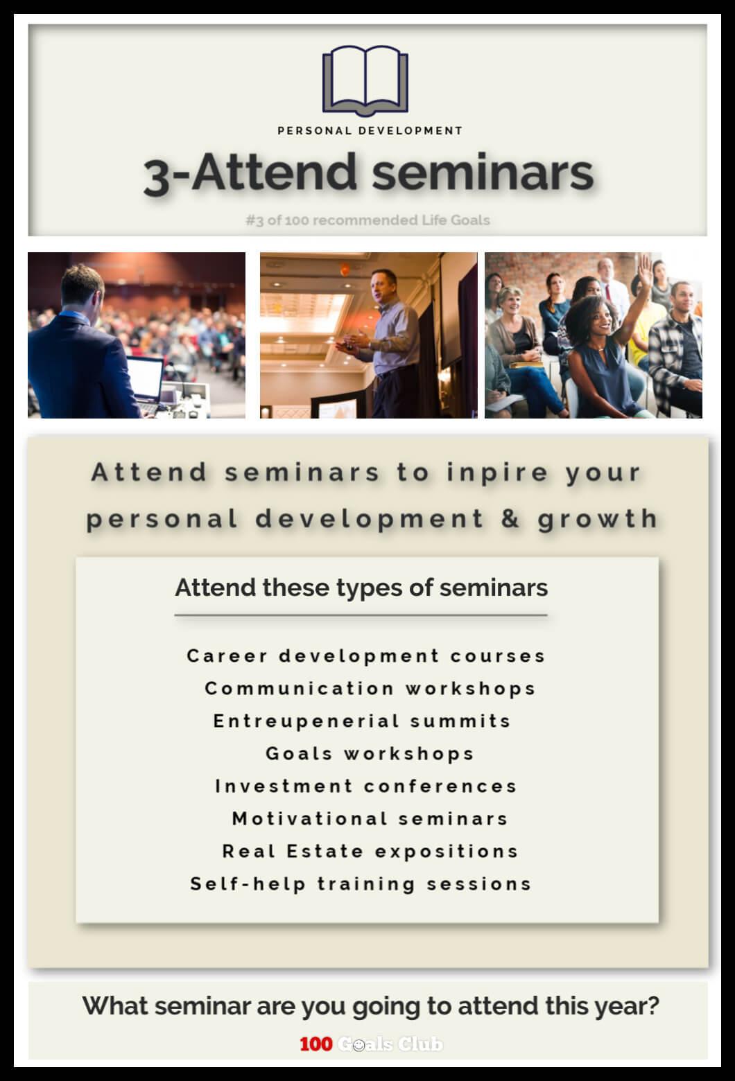 Attend self help seminars